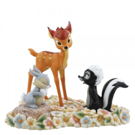 "BAMBI , THUMPER & FLOWER ""Pretty Flower"" H 17cm Enchanting Disney A28730"