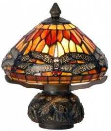 9295 Tafellampje Tiffany H21cm Ø20cm Flame Dragonfly