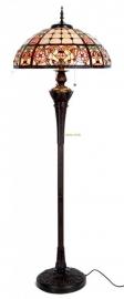 5598 Vloerlamp Staandelamp H165cm met Tiffany kap Ø56cm Bolling in de voet