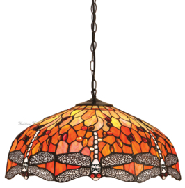 T077L Hanglamp Tiffany Ø50cm Flame Dragonfly