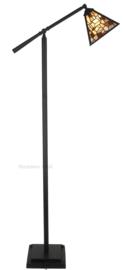 7890  Vloerlamp H165cm met Tiffany kap 21x21cm Falling Water