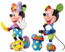Set van 2 -  Minnie & Mickey Football H15cm Disney by Britto