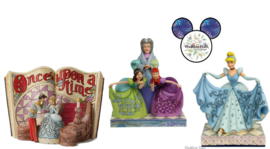 CINDERELLA Storybook, Lady Tramaine & Ugly Sisters - Cinderella Transformation - Set van 3 Jim Shore beelden