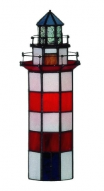 1167 Tiffany lamp H28cm Vuurtoren