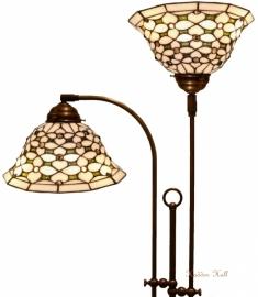 505 Vloerlamp met 2 Tiffany kappen Ø26cm Jewel