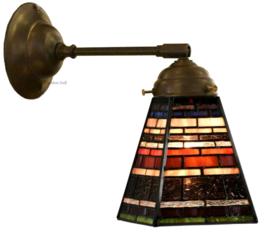 8117 Wandlamp met Tiffany kap 13x13cm Industrial