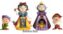 Set van 4 Miss Mindy beeldjes Snow White - Evil Queen - Dopey & Grumpy