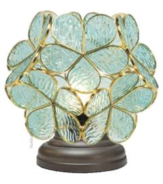 6066 Tafellamp Uplight H22cm Ø21cm Flower Blue