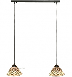 505 Balk B80cm met 2 Tiffany kappen Ø26cm Jewel