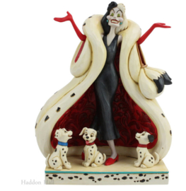 Cruella and Puppies figurine H22cm Jim Shore 6005970