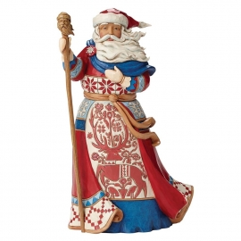 """Christmas Is In The Air"" H26cm Jim Shore Lapland Santa"