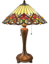 COT07 Tafellamp Tiffany H60cm Ø42cm Sydan
