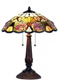 5546 Tafellamp Tiffany H57cm Ø44cm Rosegarden