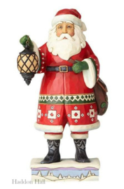 """Santa with Lantern & Toybag"" H21,5cm Jim Shore 4058790"