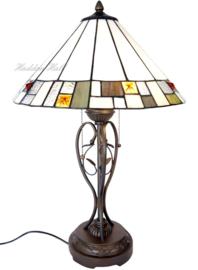 5856 Tafellamp Tiffany H62cm Ø40cm Poiret