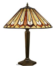 COT12 Tafellamp Brons met Tiffany kap Ø41cm Eldingar