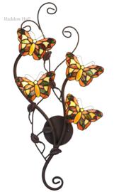 5979 Wandlamp met 4 Tiffany Vlinders