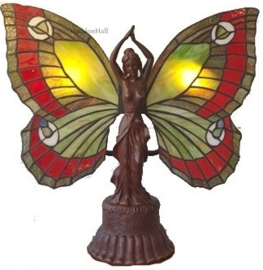 6085 Tafellamp Tiffany H41cm Lady Butterfly