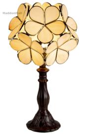 6095 Tafellamp Tiffany H38cm Ø21cm Flower Pink Yellow