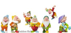 Zeven Dwergen - Set van 7 Romero Britto figurines H9cm