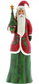 """Folklore Tall Santa with Tree"" H30,5cm Jim Shore"