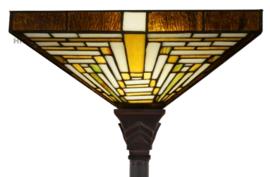 7881 Vloerlamp H180cm met Tiffany kap 37x37cm Rising Sun