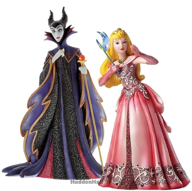 Aurora Masquerade & Maleficent H22cm - Set van 2 Disney Showcase beelden