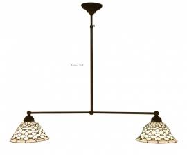 505 Hanglamp B90cm met 2  Tiffany kapjes Ø25cm Jewel