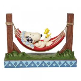 Snoopy & Woodstock in Hammock H14cm Jim Shore 6007939