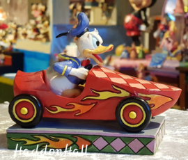 "DONALD ""Road Rage"" H10cm Jim Shore 6000975 Donald Duck roadster"