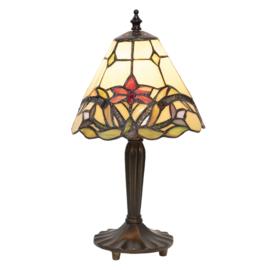 5991 Tafellamp Zwart H36cm met Tiffany kap Ø20cm