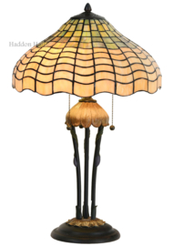 5974 Tafellamp Tiffany H60cm Ø40cm Shell