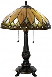 """T048SH 5768 Tafellamp Tiffany H60cm Ø40cm """"Brooklyn"""""""