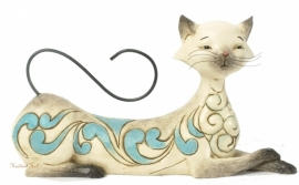 Maya lying Siamese cat B18cm Jim Shore 4037659 Kat Poes