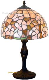 5852 9318 Tafellamp Tiffany H48cm Ø30cm Pink Marta