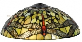 5360GR Kap Tiffany Ø30cm Yellow Dragonfly