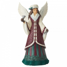 Faith Rings Loud And Clear - Victorian Angel with Hand Bell H28cm Jim Shore 6006597