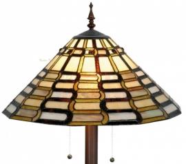 9340 9454 Vloerlamp Tiffany  Ø50cm *Ronde Voet*