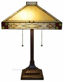 5840 Tafellamp Tiffany H56cm 36x36cm Rietveld
