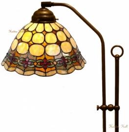 8828 708H Vloerlamp Haaks met Tiffany kap Ø26cm Victoria