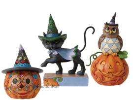 Set van 3 Jim Shore beelden - Halloween & Day of the Dead
