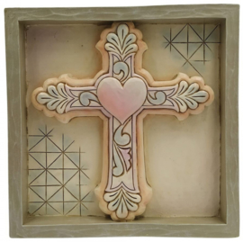 Plaque Cross 16x16cm Jim Shore 6009559