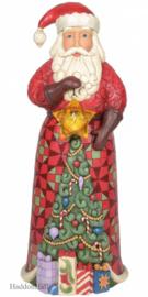 Santa Statue with Lighted Star Figurine H51cm Jim Shore 6005915