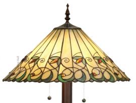 "T095L-9454 Vloerlamp Tiffany Ø50cm ""Jamelia"" Ronde voet 5205"