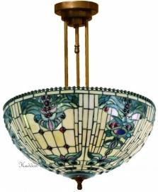 5424 203 Hanglamp Plafonniere Tiffany Ø50 cm Blue-Oyster
