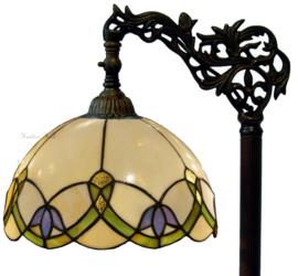 5918 9458 Vloerlamp H164cm met Tiffany kap Ø30cm Luna