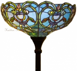 5616 Vloerlamp H184cm met Tiffany kap Ø47cm Downton