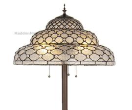 6080 Vloerlamp Terra H166cm met Tiffany kap Ø52cm Perle Fumée