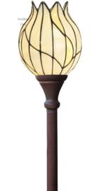 8175 Vloerlamp H175cm met Tiffany kap Ø22cm Nature
