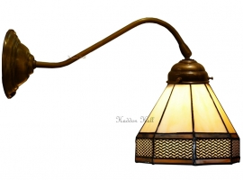 5819 410 Wandlamp met Tiffany kap Ø18cm Wall Deco